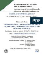 """""""DESARROLLO DE CATALIZADORES SÓLIDOS ÁCIDOS PARA LA SÍNTESIS DE COMPUESTOS QUÍMICOS VALIOSOS"""""""