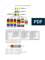 Cara Menghitung Warna Gelang Resistor