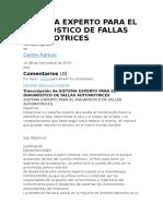 Sistema Experto Para El Diagnóstico de Fallas Automotrices