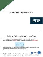 Unidad - Uniones Quimicas