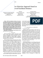 A Web Service Selection Approach Based on Improved Euclidean Distance