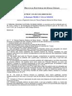 TRE MG Resolucao Tre Mg n 1014 de 16 de Junho de 2016 Regimento Interno