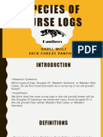 types of nurse logs by pack forest panthers