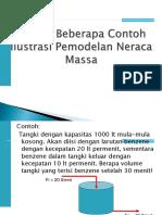4. Ilustrasi Pemodelan - Neraca Massa & Energy