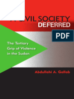 Abdullahi a. Gallab-A Civil Society Deferred the Tertiary Grip of Violence in the Sudan-University Press of Florida (2011)