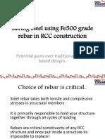 8962Saving Steel Using Fe500 Grade Rebar
