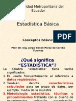 01 Estadística Básica Clase 1