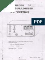Catalogo Probador Reguladores Voltaje Alternador 12-24-32 Voltios Alimentacion 220vac Marcas Modelos Tipos