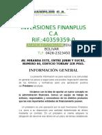 Informacion Inversiones Finanplus