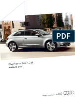 Audi Owners Manual - A3 & S3