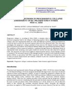 Numerical Methods in Progressive Collapse Assessment of RC Framed Structures FEM vs. AEM (Botez, Et Al. 2014)