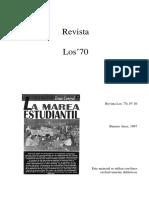 Revista-Los-70 La Marea Estudiantil