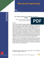 New Techniques Applied to Post-earthquake Assessment of Buildings (Carreño, Et Al. 2004)