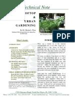 Rooftop & Urban Gardening