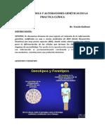 Genética Médica y Alteraciones Genéticas en La Practica Clínica (1)