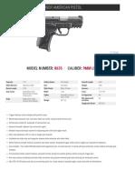 Ruger American Pistol Compact Models Spec Sheet