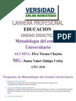 Preguntas de Metodología Del Estudio Universitario