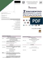 2o. Encuentro Internacional de Pedagogia Programa