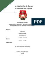 Seminario de Cirugía- Nomenclatura y Quirofano