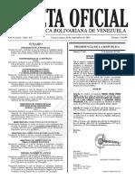Gaceta Oficial Número 40.996 de la República de Venezuela, 26 de septiembre de 2016