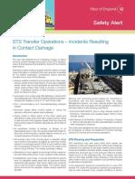 船靠船几起事故案例总结 西英格兰保险协会 West of England Loss Prevention Safety Alert Sts Transfer Operations Incidents Resulting in Contact Damage