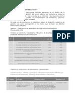 Metas e icadores Institucionales - Copia