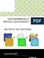 Ordenanmiento Rapido (Quicksort)