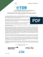 TDBM Final Information Memorandum
