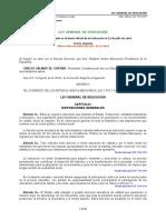 Ley General de Educacion Reformada 19 Dic 2014