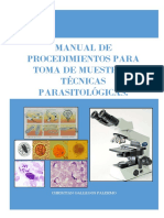 Manual de Toma de Muestra Parasitologica - 2016