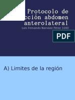 Protocolo de disección abdomen anterolateral
