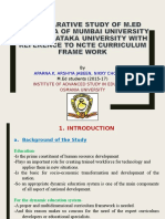 a comparative study of m.ed curriculum of mumbai university ,karnatak university and ncte