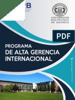 Programa Alta Gerencia UPB - UPV