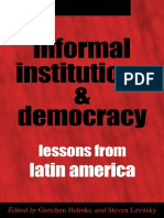 Lu6sc.informal.institutions.and.Democracy.lessons.from.Latin.america.by.Gretchen.helmke