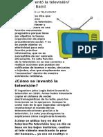 Quién Inventó La Televisión