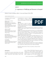 New Graduate Nurses's Experiences of Bullying and Burnout in Hospital Settings