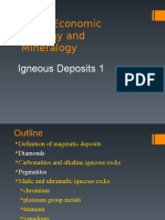 Lecture 9 Igneous Deposit
