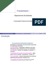 Aulas de Probabilidade I - Exercícios - Professora Tarciana Liberal - UFPB