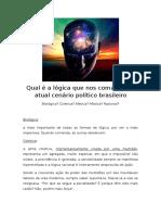 Qual é a Lógica Que Nos Comanda No Atual Momento Político Brasileiro