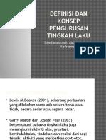 Definisi Dan Konsep Pengurusan Tingkah Laku