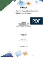 Trabajo Colaborativo – Unidad 1 Fase 1 - Trabajo Estructura de La Materia y Nomenclatura_Grupo 201102_113