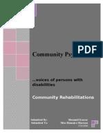 Community Rehabilitati0n