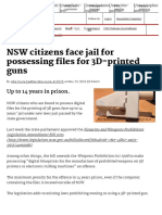 NSW Citizens Face Jail for Possessing Files for 3D-Printed Guns - Hardware - ITnews