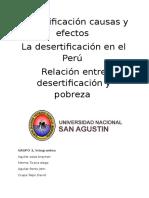 Desertificación Causas y Efectos