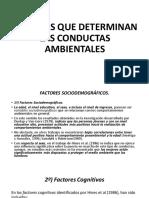 Factores Que Determinan Las Conductas Ambientales