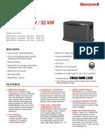 Honeywell Generators Home Generator 16kw 20kW 22kW