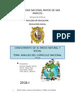 Analisis Del Curriculo Nacional 2016 Listo