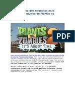 Los 10 trucos que necesitas para superar los niveles de Plantas vs Zombies 2.docx