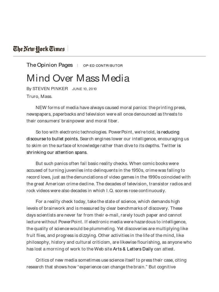 mind over mass media