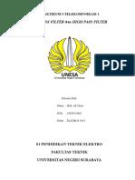 Praktikum 3 Telekomunikasi 1  Low dan High Pass Filter